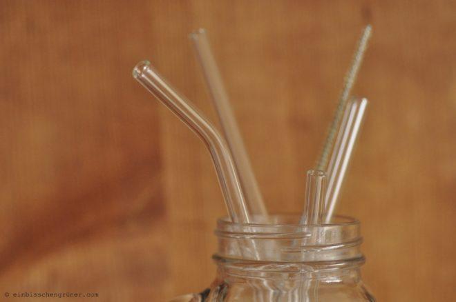 Glasstrohhalme statt Plastikstrohhalme